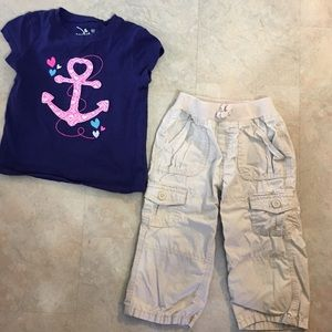 Other - 5/$15 🔴CLEARANCE🔴Anchor top w/khaki capris